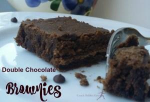 Double Chocolate Brownies: Vegan & Gluten Free