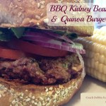 BBQ Kidney Bean and Quinoa Burgers. #Vegan Recipe