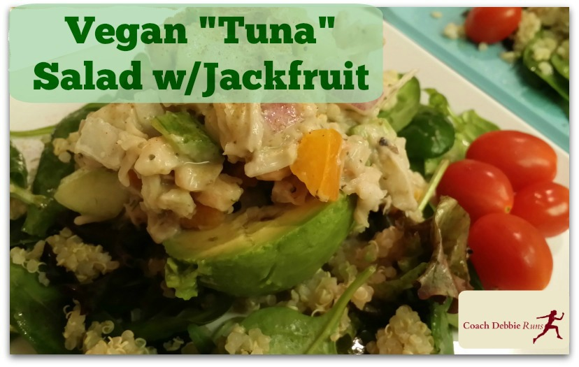"Vegan recipe: ""Tuna"" salad with jackfruit, avocado, and quinoa. # ..."