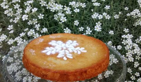 tarta de almendra sin huevos