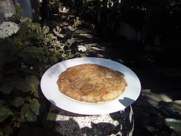 tortilla de alcachofas