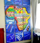 Creative team building - painted Africa mural