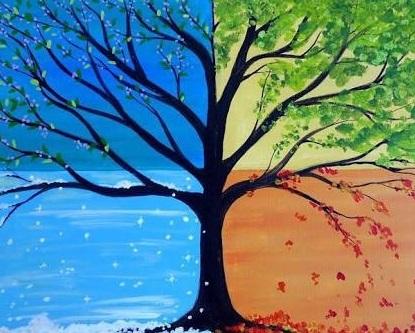 four seasons open Paint session