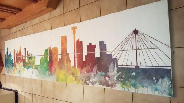 Team building Company Mural paintnig
