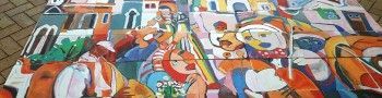 Mural painting - Corporate Team building event