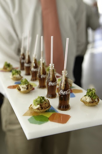 Mini Fried Chicken and Coke Hors D'oeuvres Cocktail Hour Reception