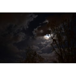 Small Crop Of Moon And Clouds