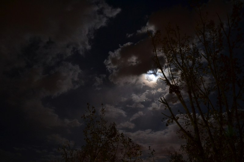 Large Of Moon And Clouds