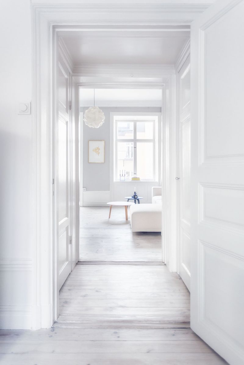 Monochromatic Sweden Home Tour