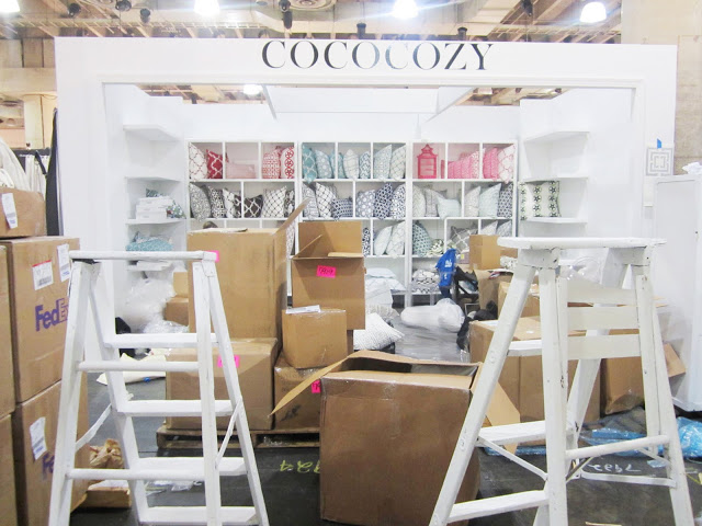 COCOCOZY booth in progress!