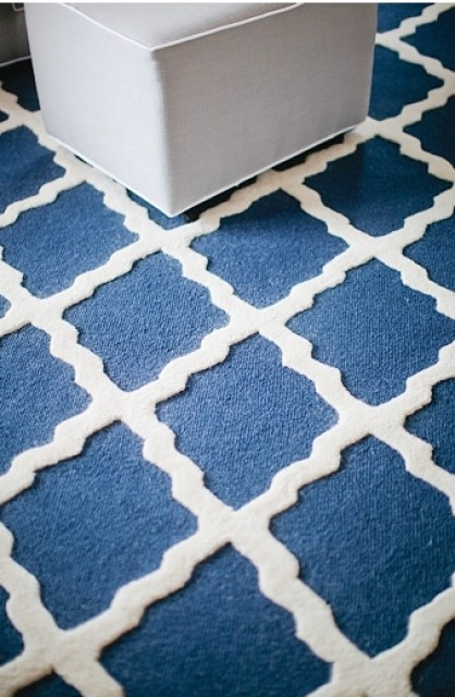 navy white moroccan style rug floor covering