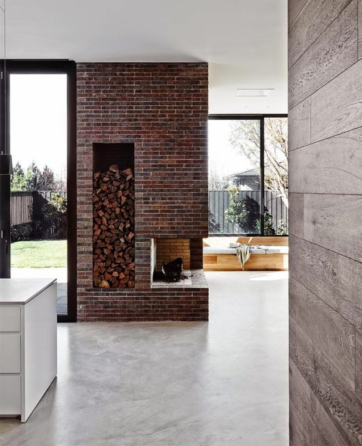 Fireplace by Robson Rak Architects