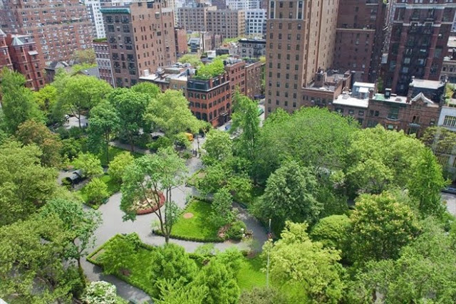 grammercy park view from a New York City penthouse apartment