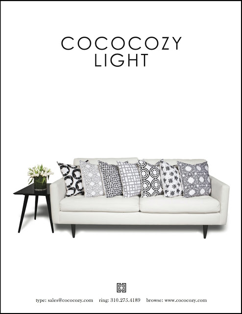 COCOCOZY Light pillows on a white sofa catalog photo
