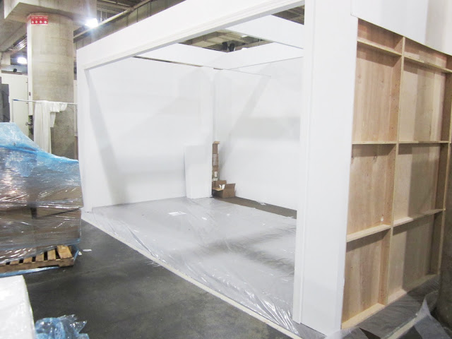 Empty booth at the New York International Gift Fair