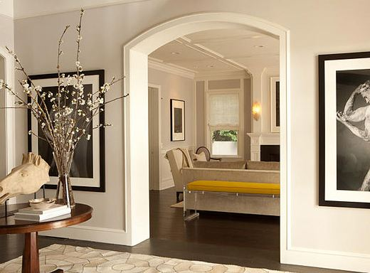 Arched foyer in a Pacific Palisades home