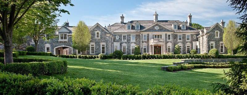 Exterior of a mansion in New Jersey