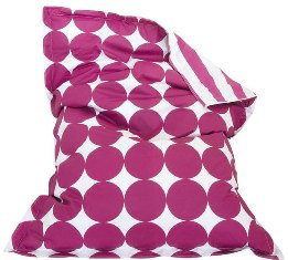 Over sized bean pillow with pink polka dots and stripes from Tottini