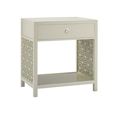 Lattice bedside table from Baker with one drawer