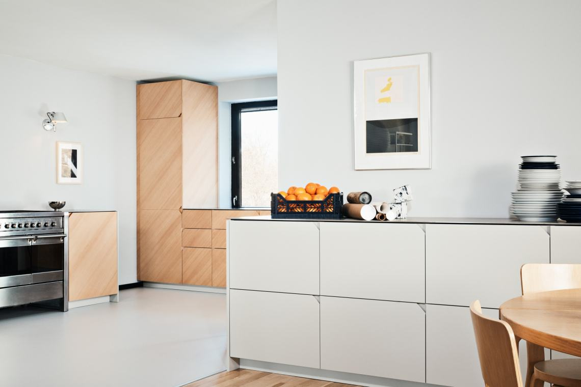 Cecilie Manz's kitchen design in a home in Værløse