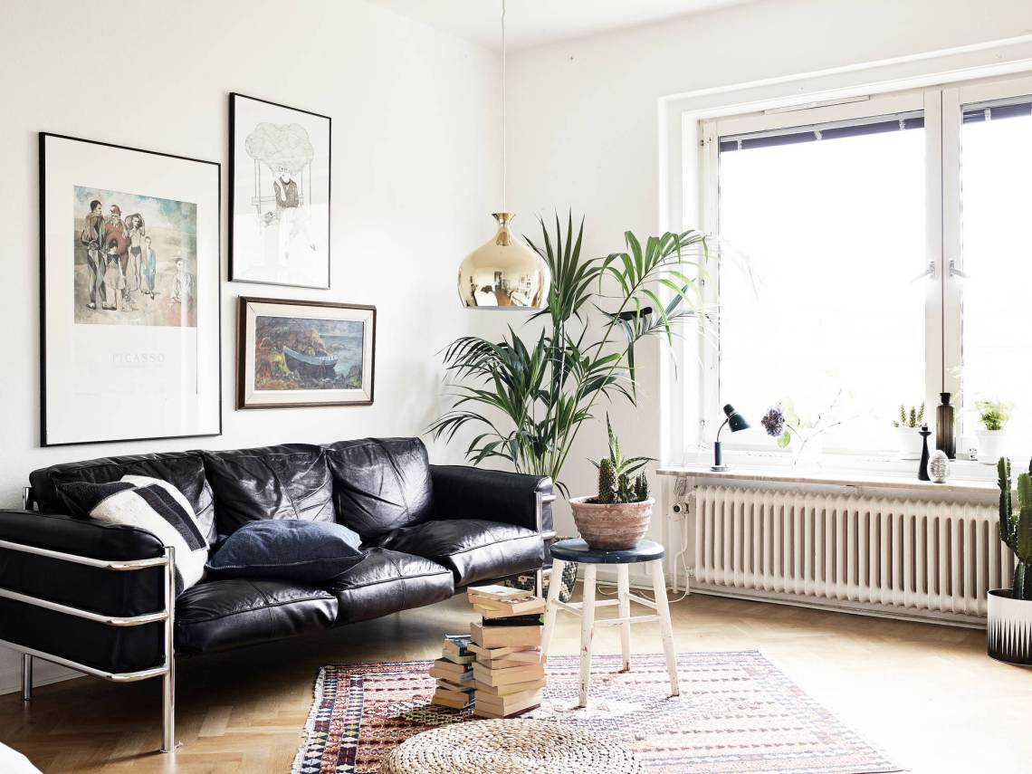 mid century modern flat with lots of plants coco lapine