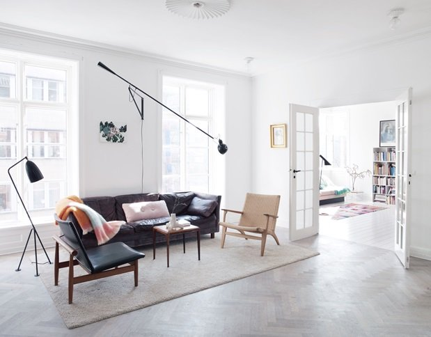 A Danish family home with classics and art - via cocolapinedesign.com