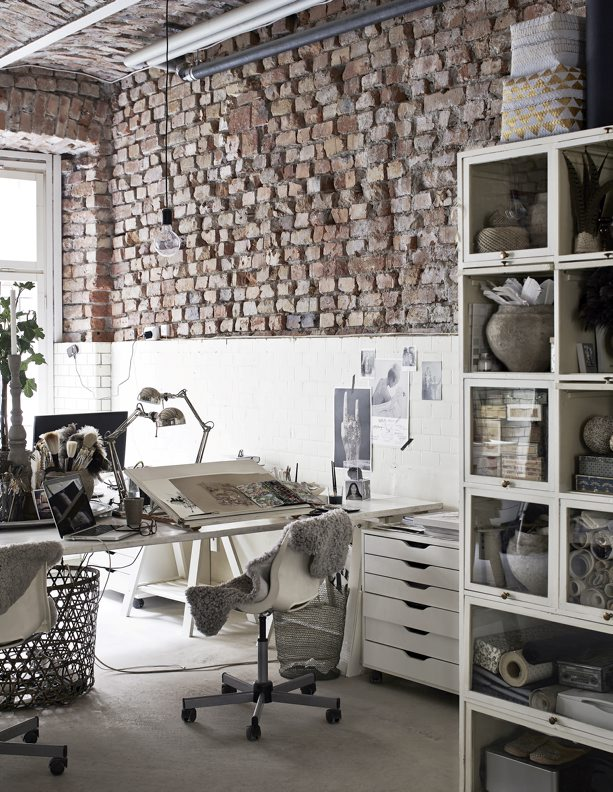 Sara N Bergman's beautiful office - via cocolapinedesign.com