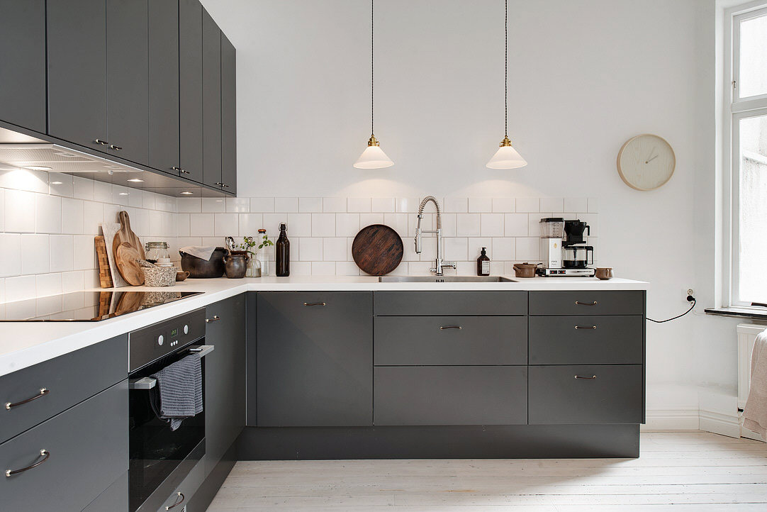 Exceptionnel Dark Grey Kitchen   Via Cocolapinedesign.com ...