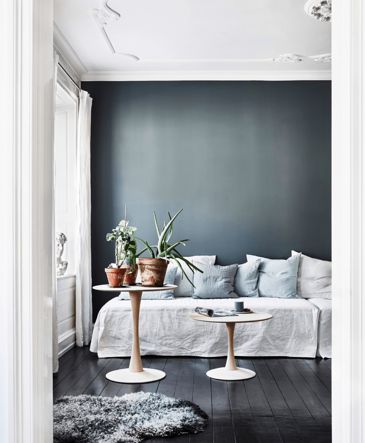 Blue, grey and wood - via cocolapinedesign.com