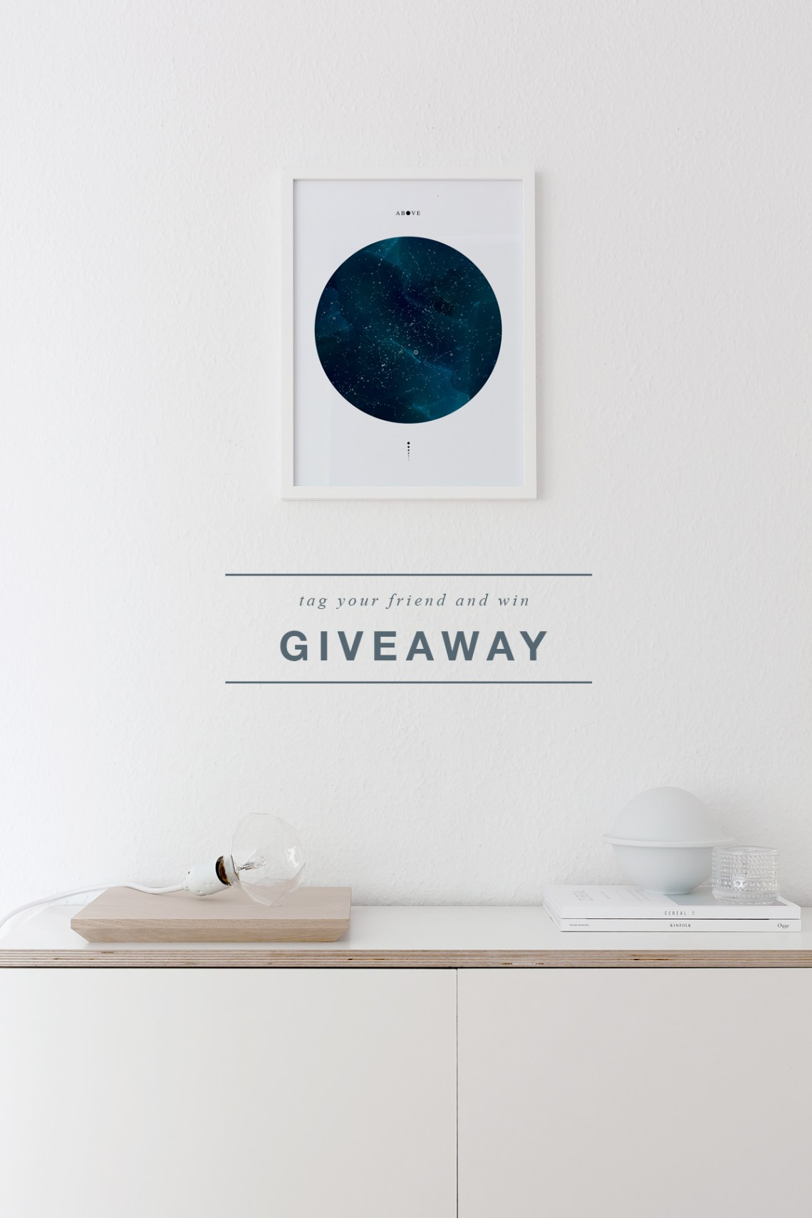 Giveaway: 'Above' Fine art print for you and your friend - cocolapinedesign.com