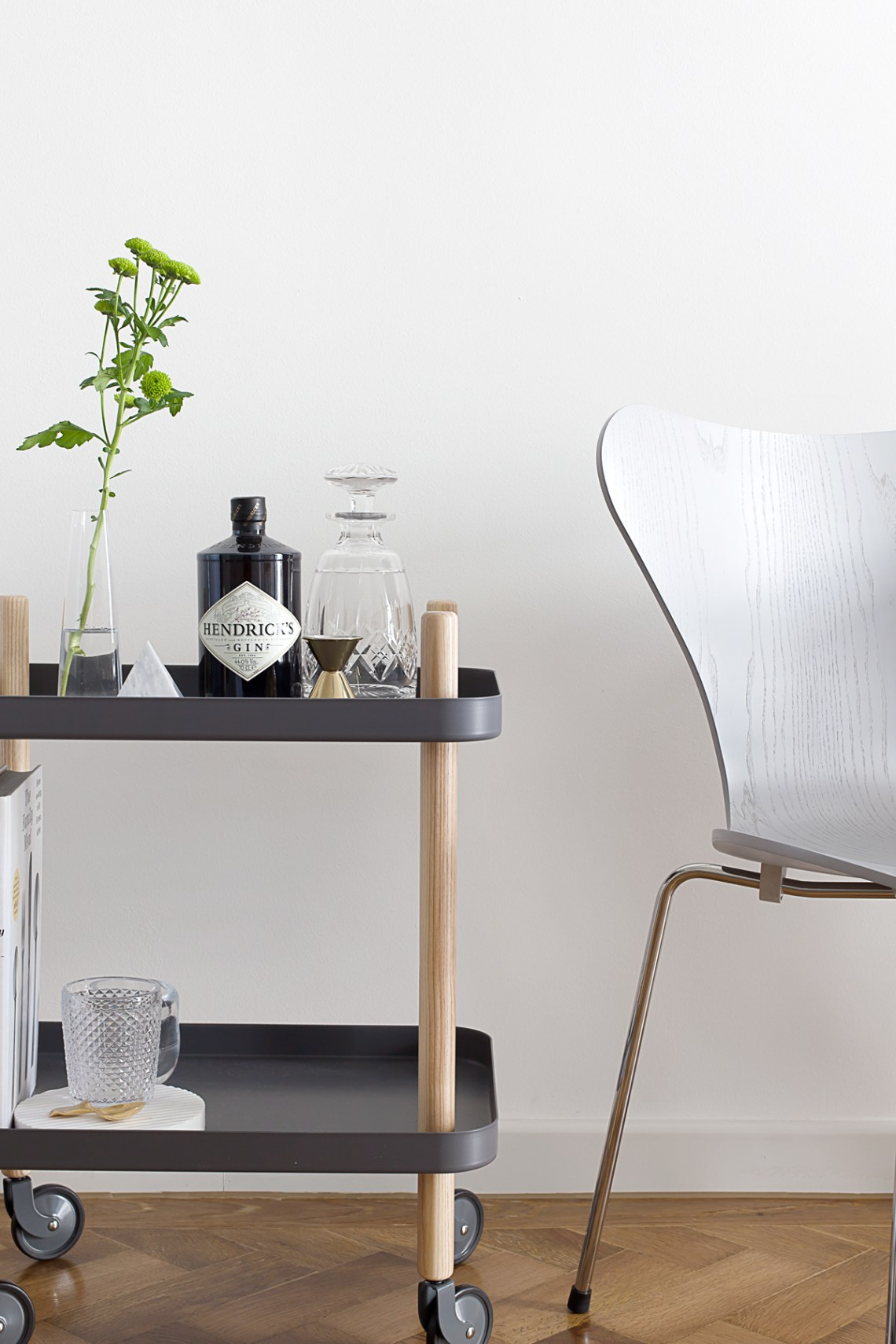 Bar cart and pendant lamp from Westwing Now - via cocolapinedesign.com