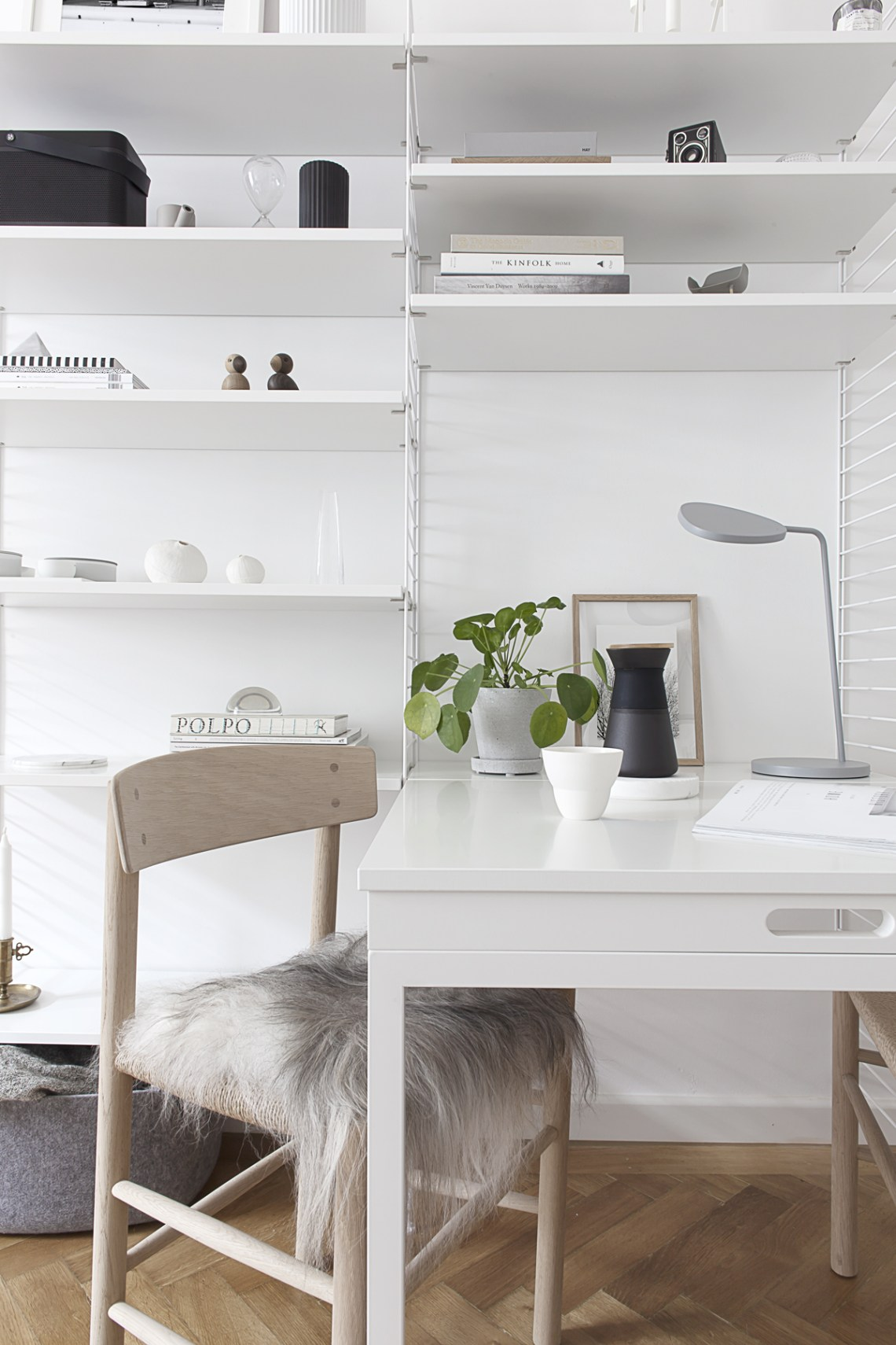 String System in our living room - via Coco Lapine Design