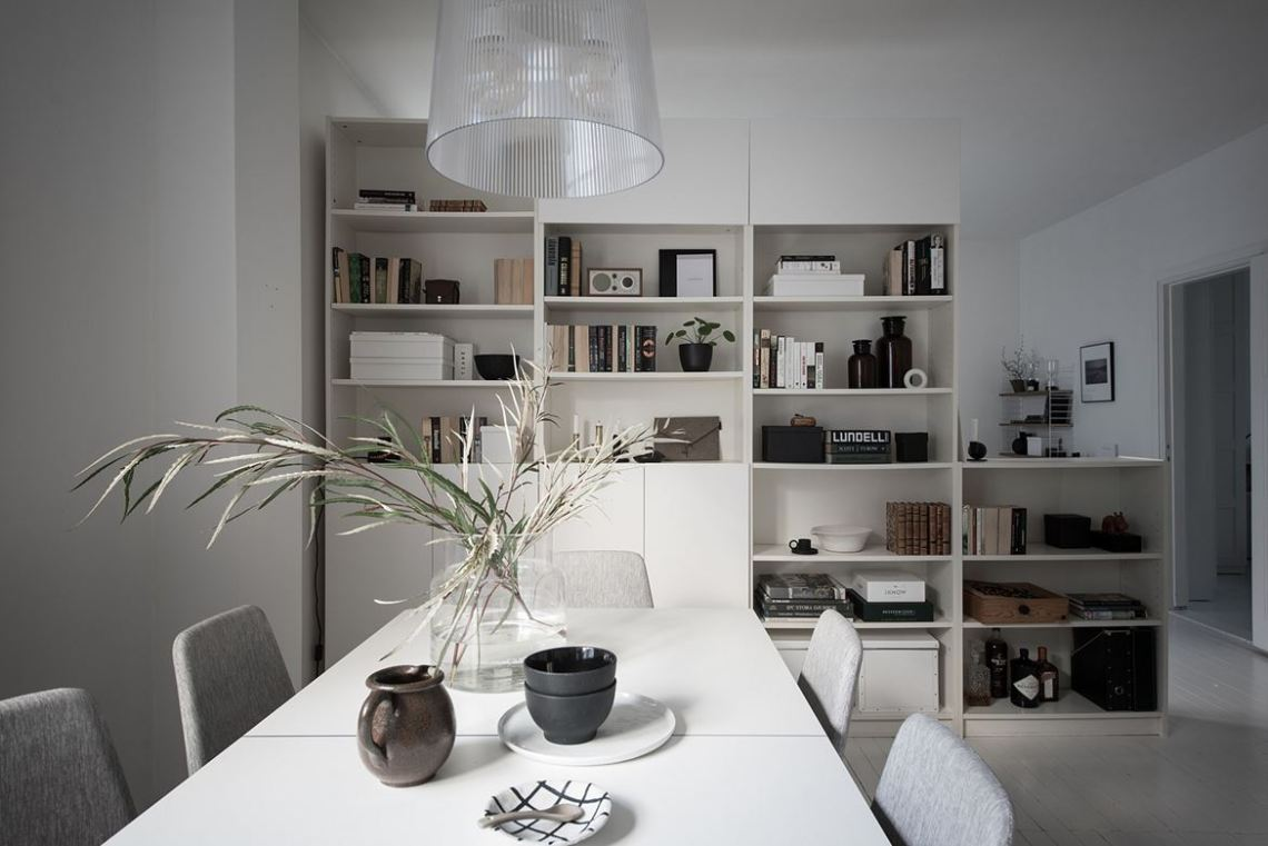 Divided by a bookcase - via Coco Lapine Design