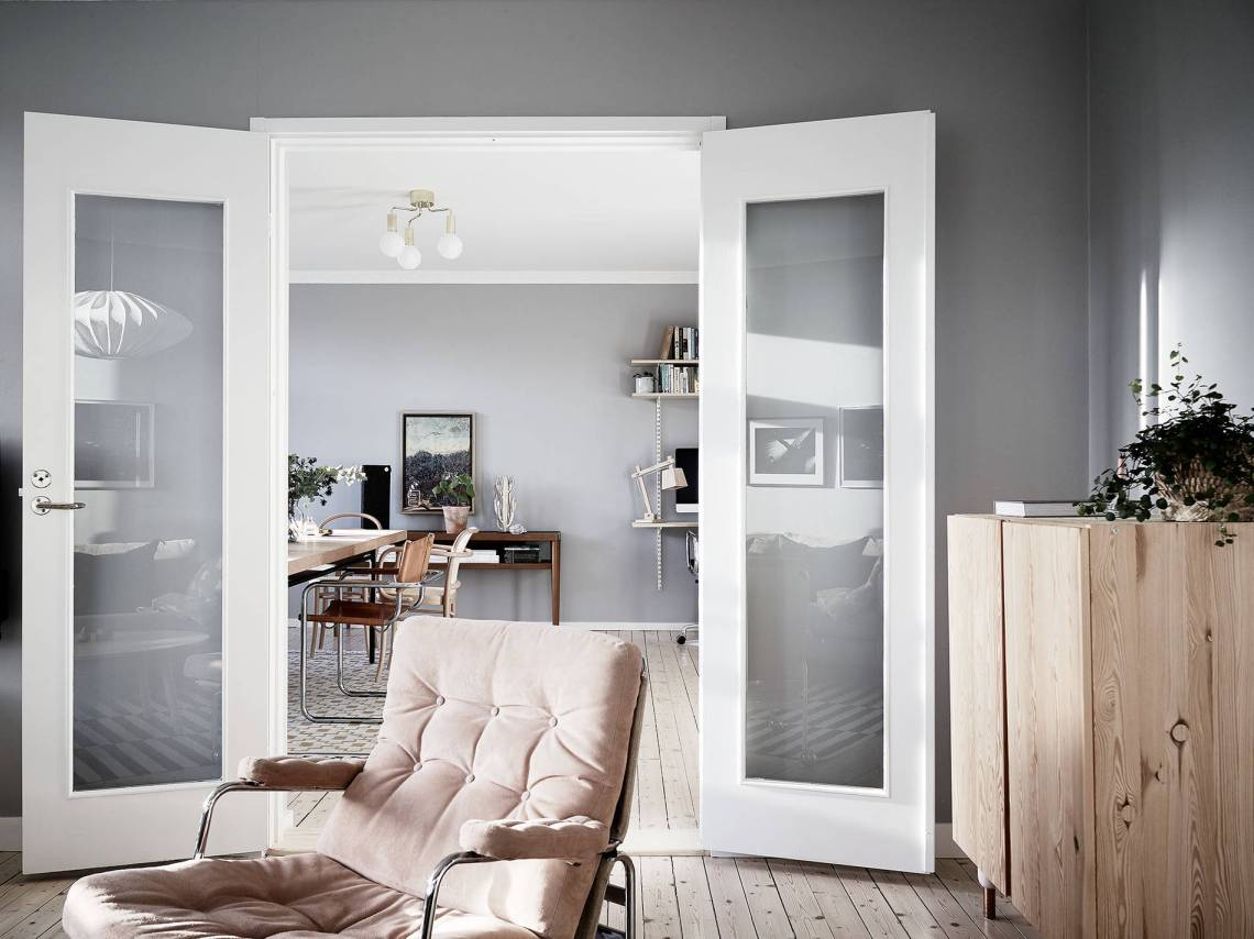 Home in grey and brown - via Coco Lapine Design