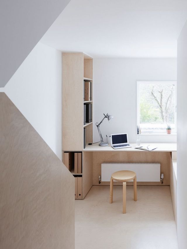 Home in plywood and concrete - via Coco Lapine Design