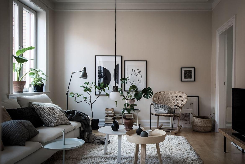 living room in beige coco lapine designcoco lapine design
