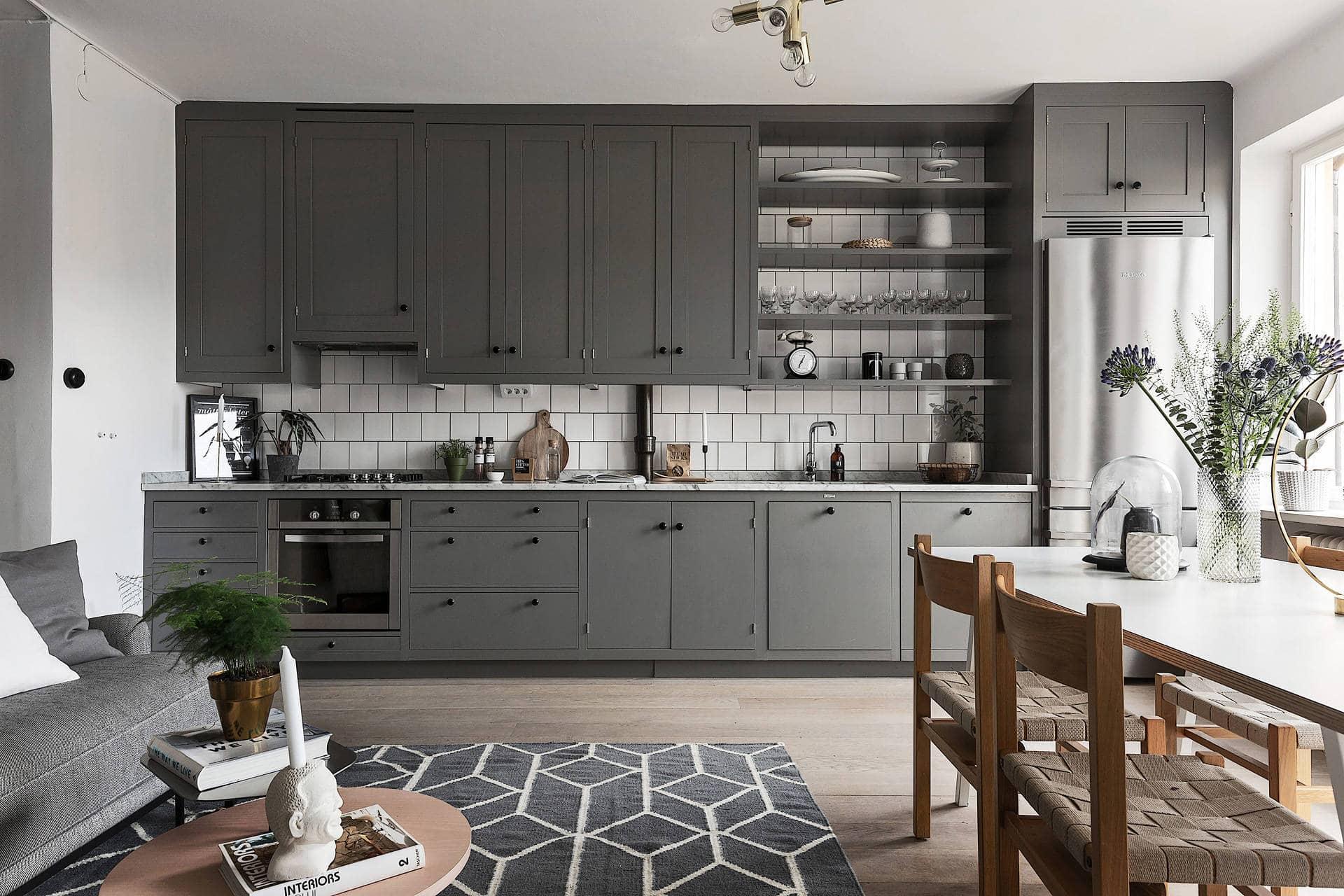 beautiful living kitchen in grey coco lapine designcoco