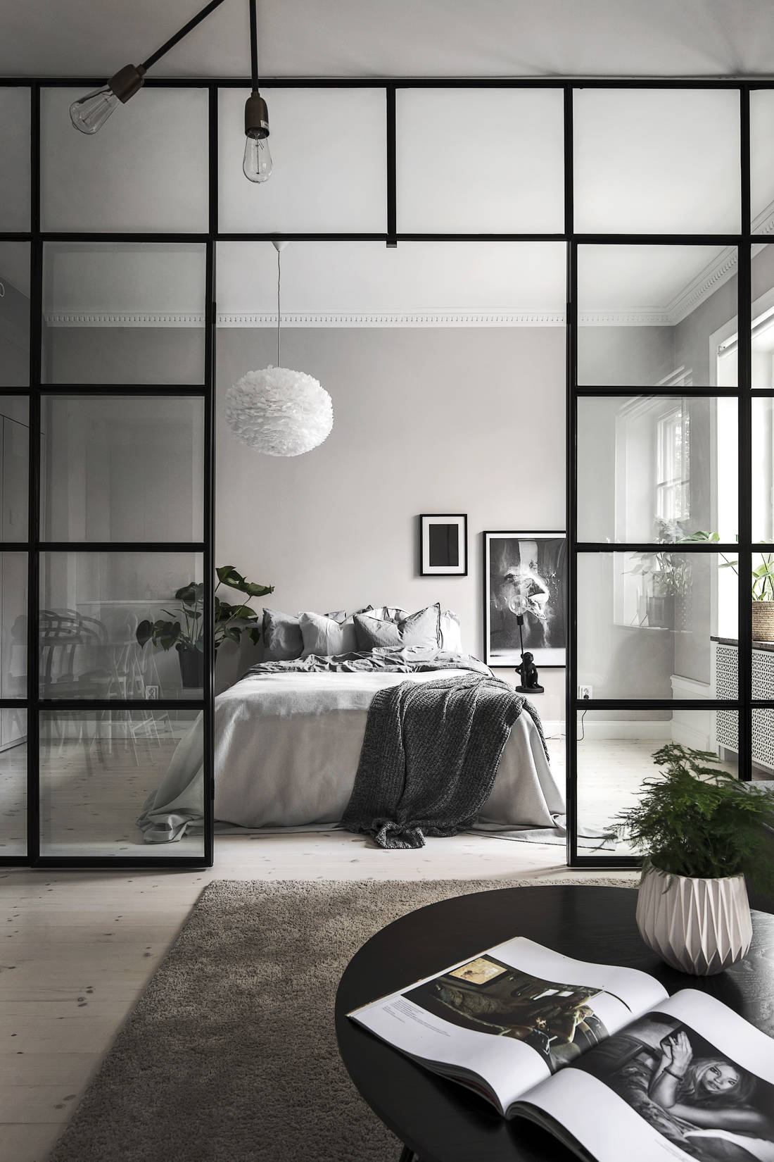 Kitchen  living room and bedroom in one   via Coco Lapine Design blog. Kitchen  living room and bedroom in one   COCO LAPINE DESIGNCOCO