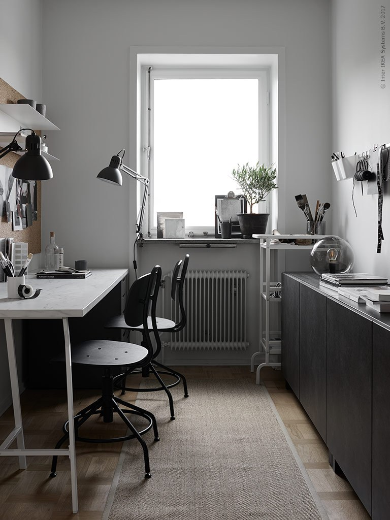Office for two - via Coco Lapine Design blog