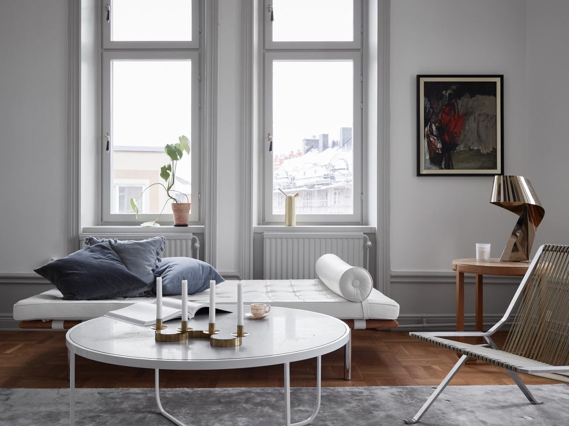 Light flooded home with turn of the century details - via Coco Lapine Design blog