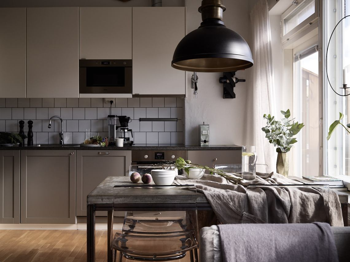 Cozy kitchen in warm tints