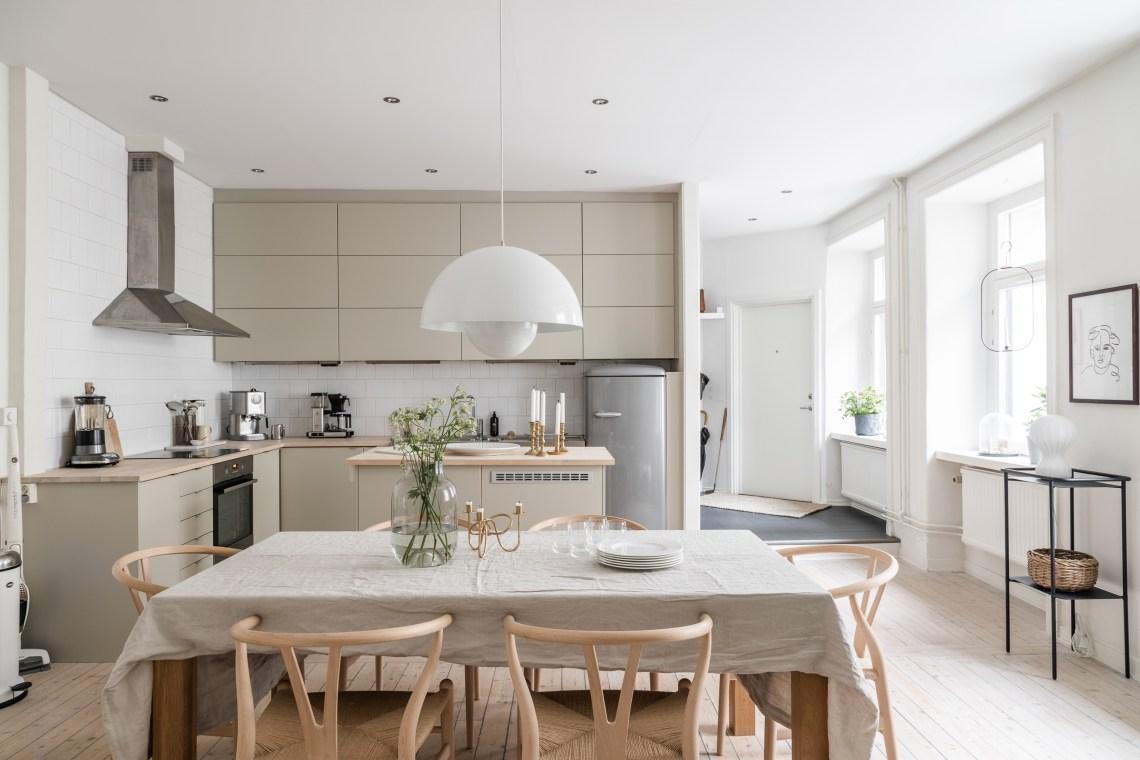 Beautiful beige kitchen