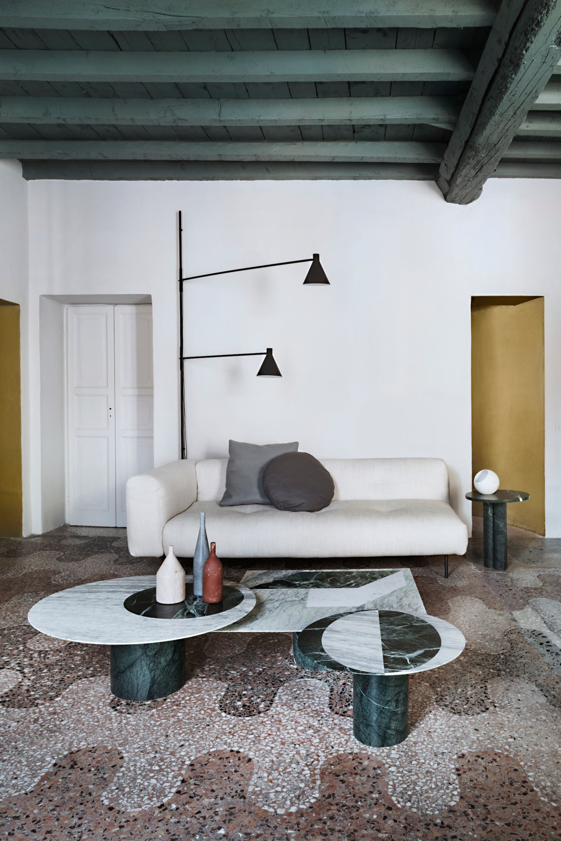 Marble play at Casa Salvatori in Milan