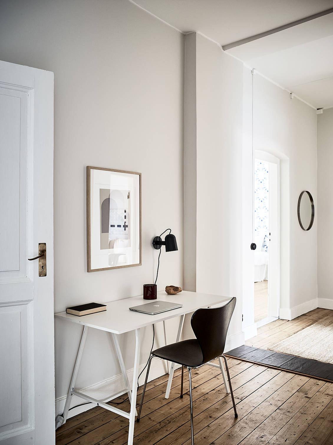 Coco Lapine Design The Little Things She Needs Malmo Navy White Tsn0001342nw52 38 I Think This Warm And Beige Home Look So Very Cozy Inviting Black Accent Pieces In Both Furniture Textiles Give Interior A Bit More Of