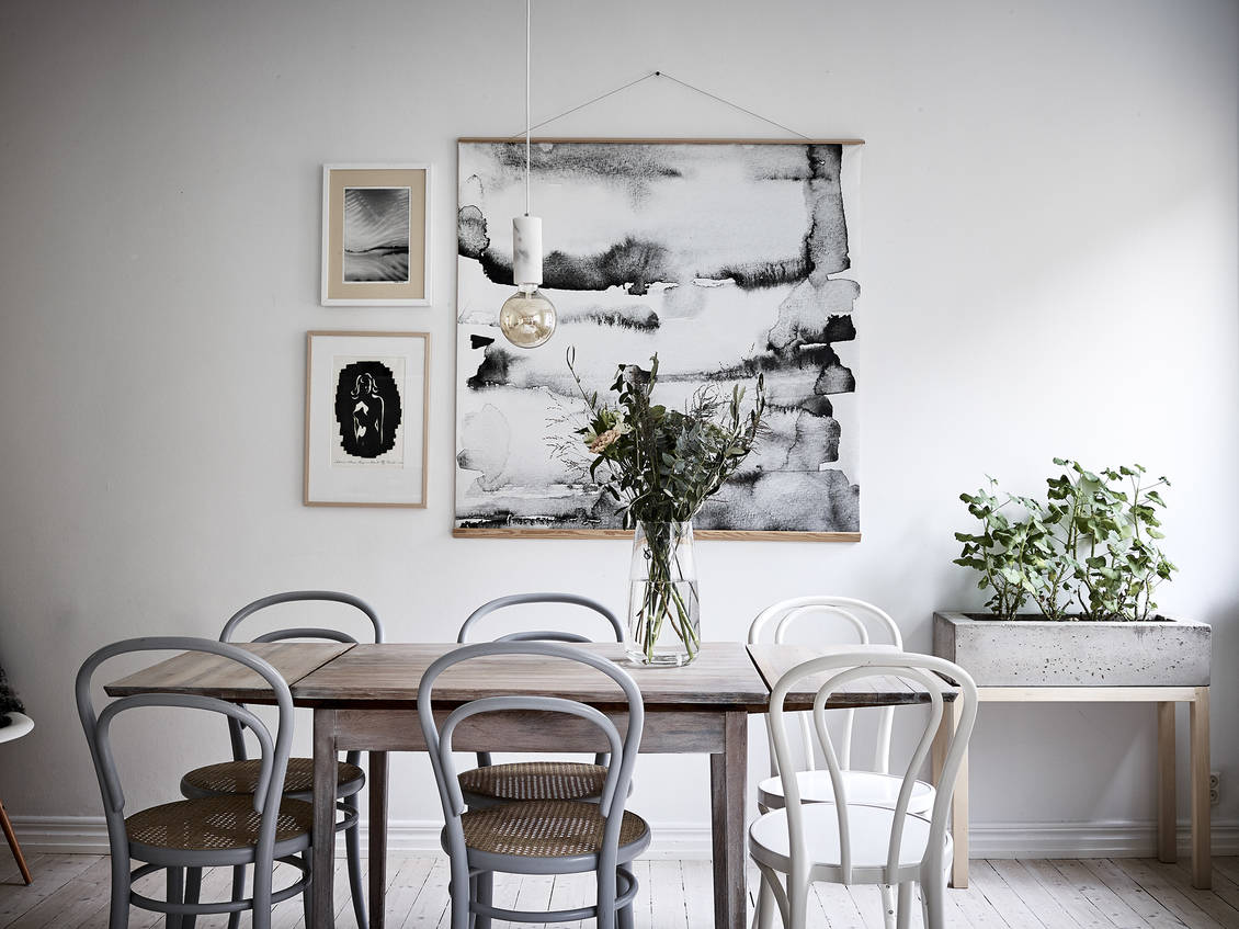 Bright and unique dining room