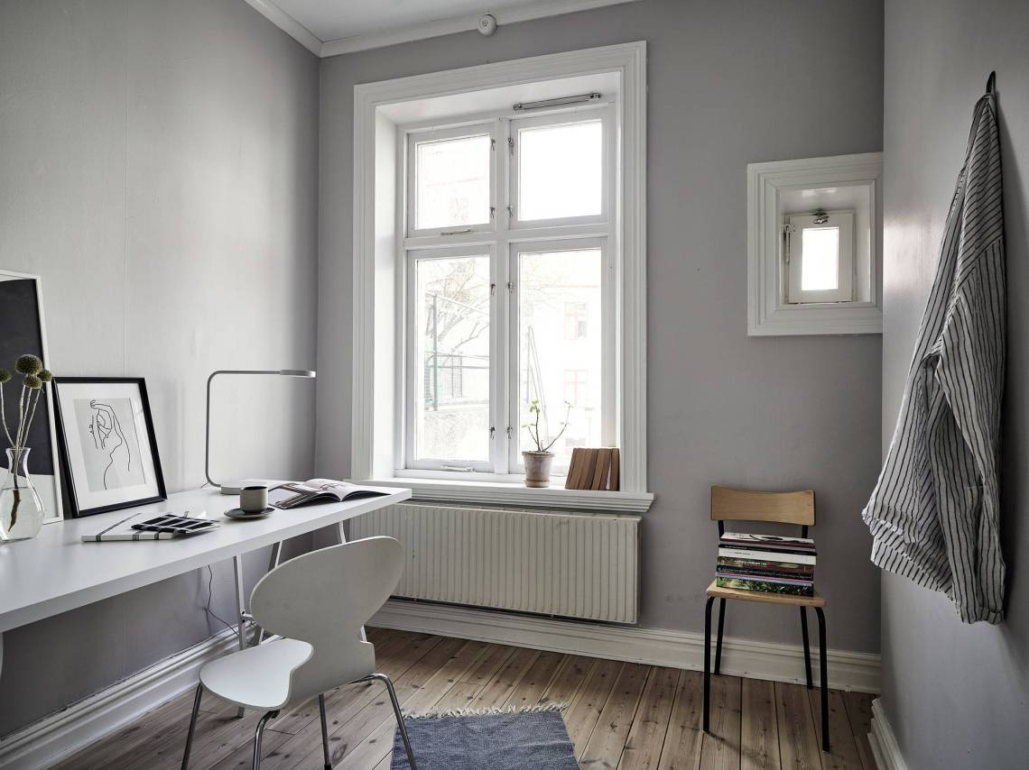 Simple grey office space