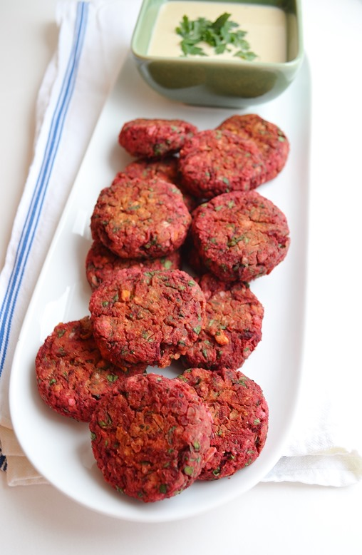 5-Ingredient Mondays: Baked Beetroot Falafel & Apricot Ginger Sorbet