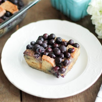Blueberry Baked French Toast (Paleo) - Coconut Contentment