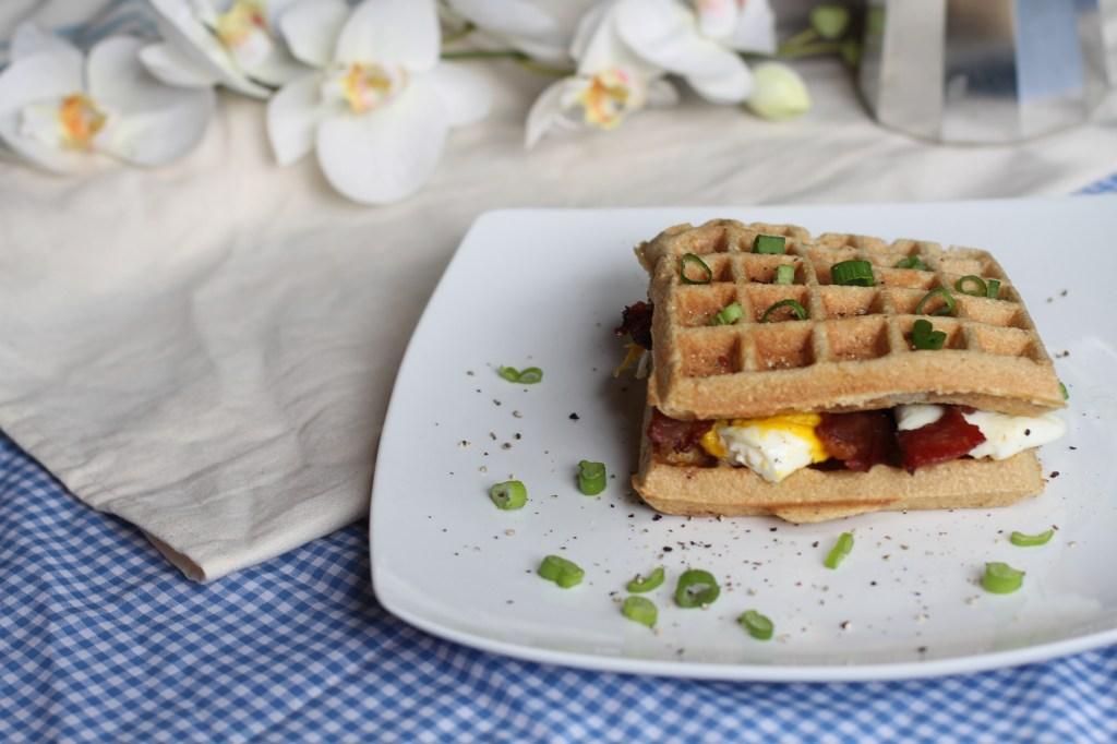 Coconut Contentment Breakfast Waffle Sandwich