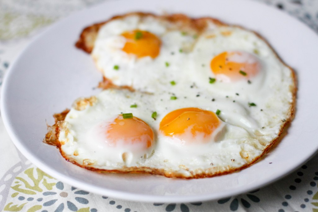Perfect Oven Fried Eggs - Coconut Contentment
